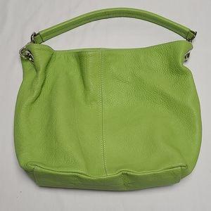 Maxima Italian Green Leather Shoulder Purse